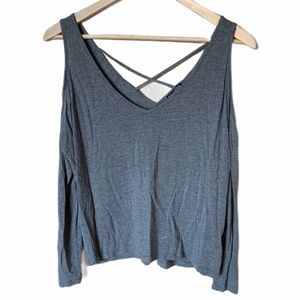 Express longsleeve cold shoulder top small